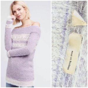 Sleeping on Snow Faroe Off Shoulder Sweater